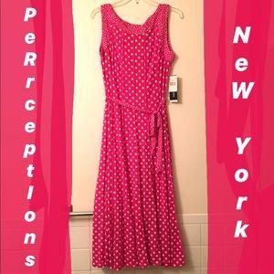 Pink Polka Dot Dress by Perceptions New York